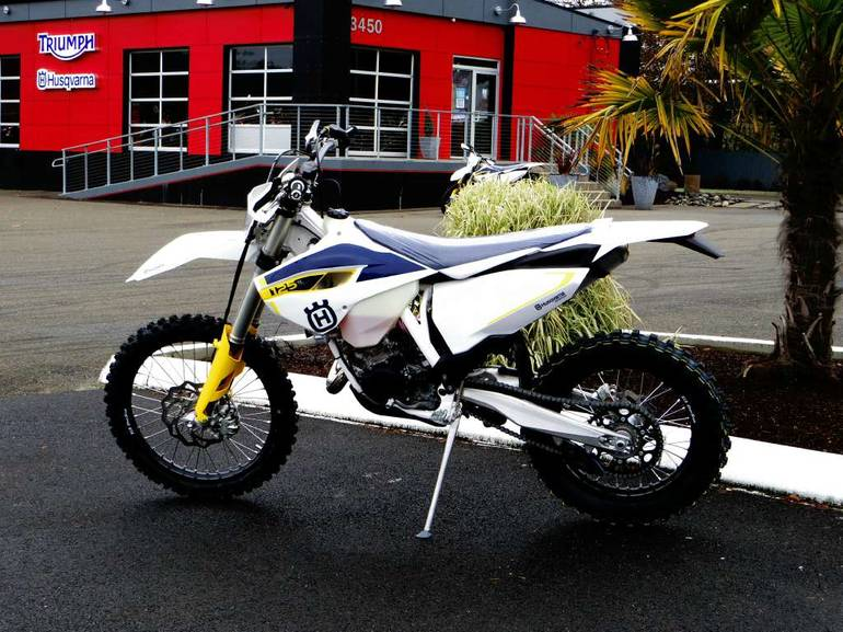 2015 husqvarna te 125 motorcycle from port orchard wa today sale 6 799. Black Bedroom Furniture Sets. Home Design Ideas