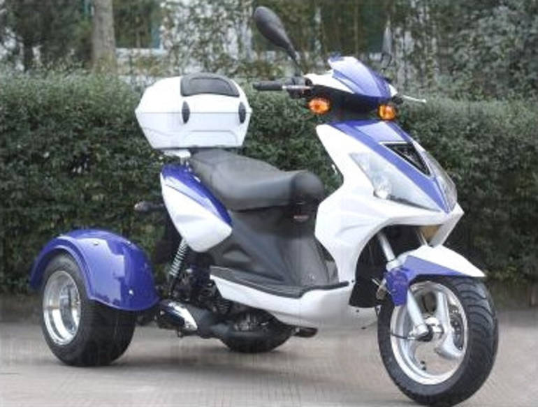 2012 Ice Bear 50cc Mojo Trike Scooter Moped Motorcycle From