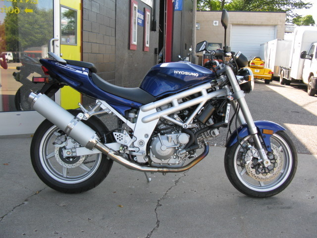 2007 Hyosung GT650, motorcycle listing