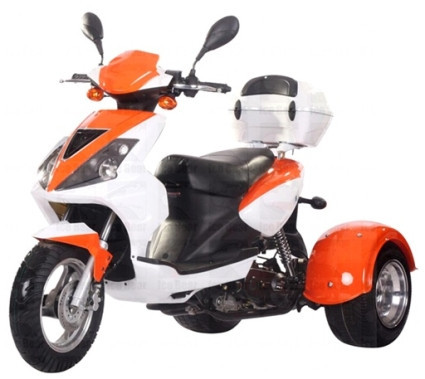 2012 Ice Bear 50cc Mojo Trike Scooter Moped, motorcycle listing