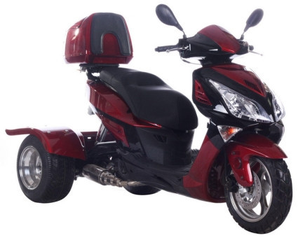 2013 Ice Bear 150cc Hawk Air Cooled 4 Stroke Moped Trike Scooter, motorcycle listing
