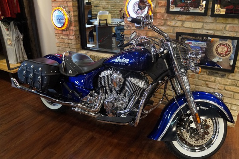2015 Indian Chief Classic Custom Candy Blue, motorcycle listing