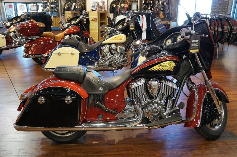 2015 Indian Chieftain Indian Red/Thunder Black, motorcycle listing