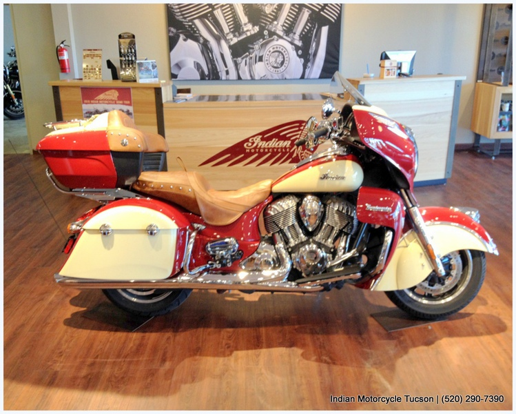 2015 Indian Roadmaster Indian Red/Ivory Cream, motorcycle listing