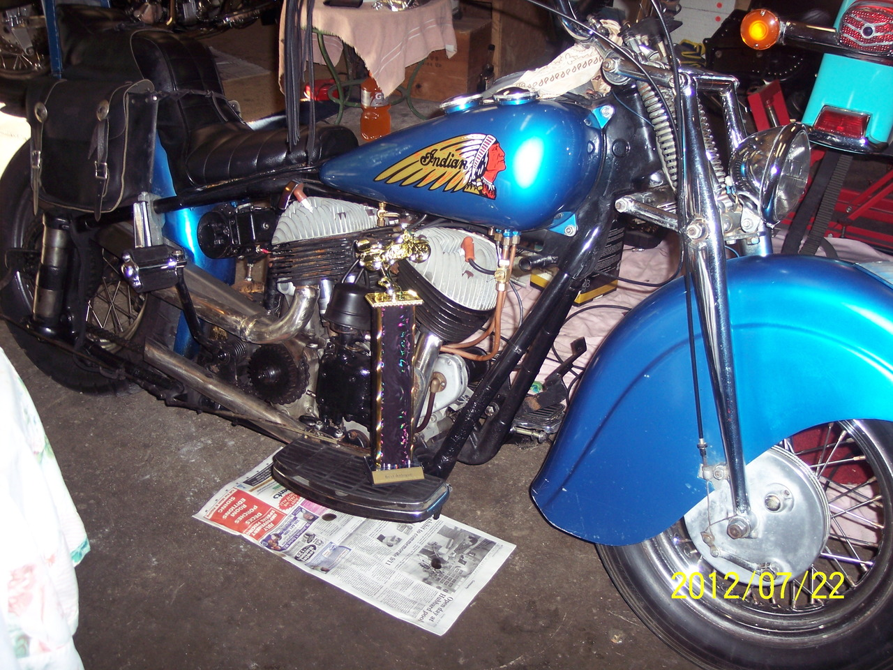 1948 indian chief motorcycle from kinsman oh today sale for Ebay motors indian motorcycles