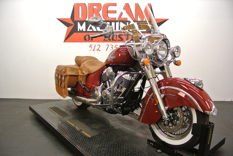 2015 Indian Chief Vintage Indian Red, motorcycle listing